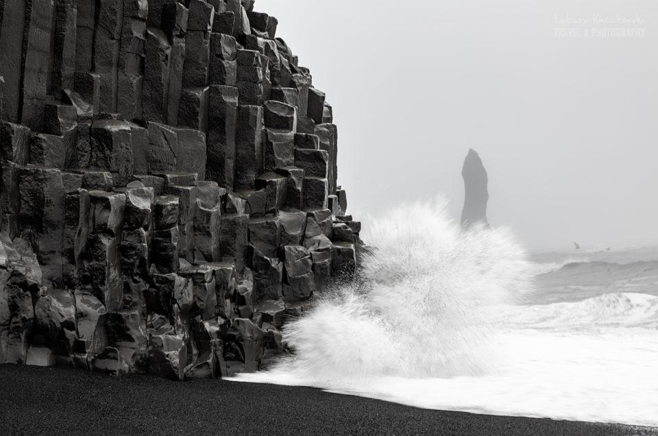 Islandia zima czarno-białe